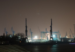 Docks at night Hamburg